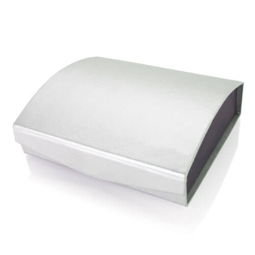 Silver Curved Gift Box