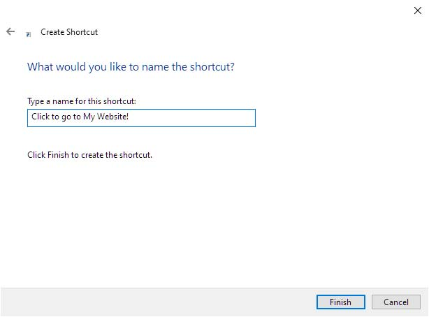 Name the Windows Shortcuts
